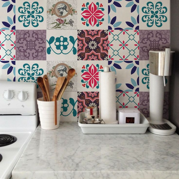 Armario Sala ~ Transformando o Banheiro e a Cozinha com Adesivo de Azulejo Abilolando